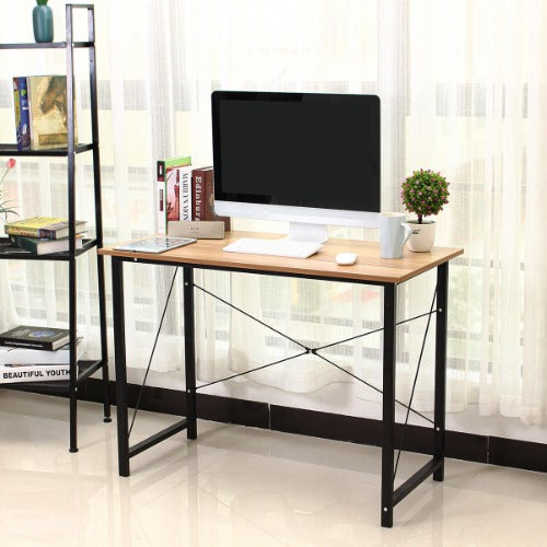 Laptop Desk Wooden Writing Computer Desk Table Study Workstation for Home Office