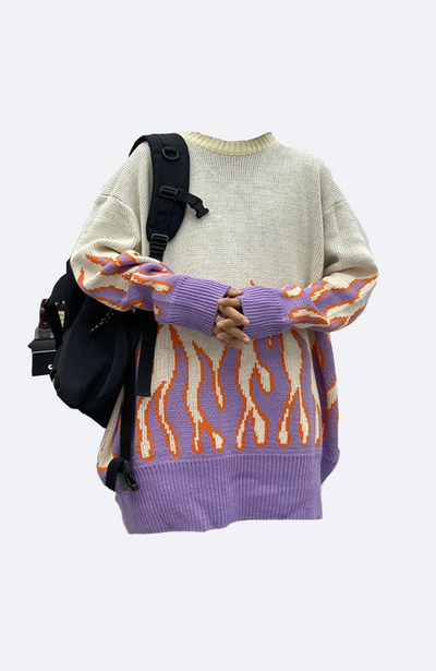 Flame Knit Sweater (creamy)