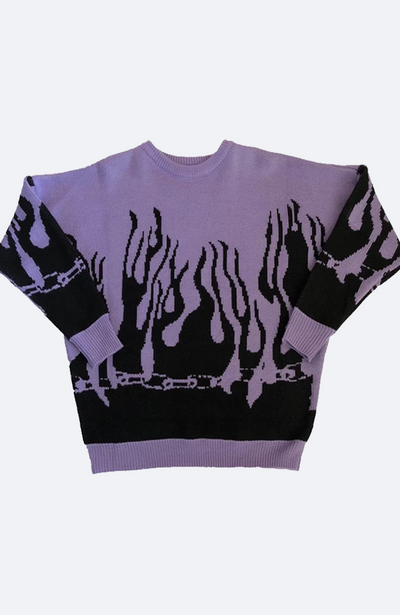 Flame Knit Sweater (purple)