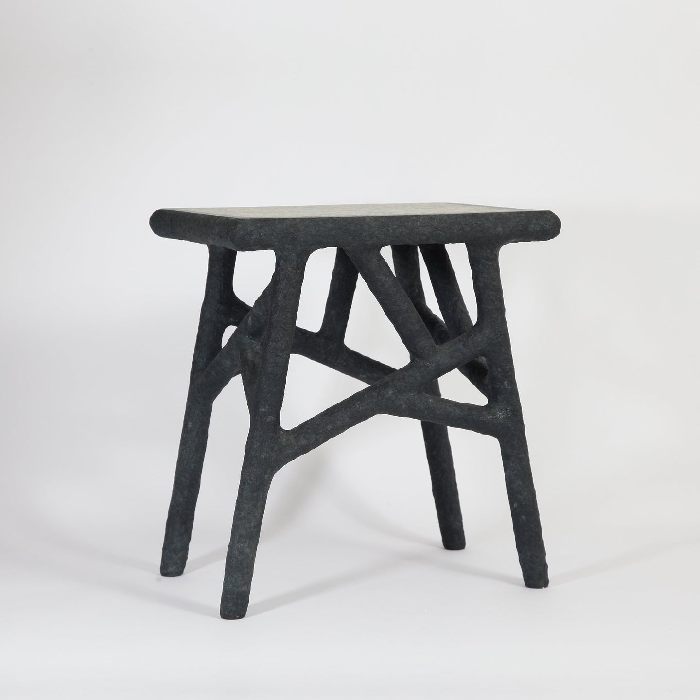 Alchemist's Side Table / black & grey| one-off item | made from recycled newspapers - THE HOME OF SUSTAINABLE THINGS