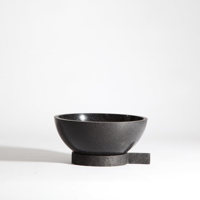 Bowl with stand | made from bamboo charcoal & shellac - THE HOME OF SUSTAINABLE THINGS
