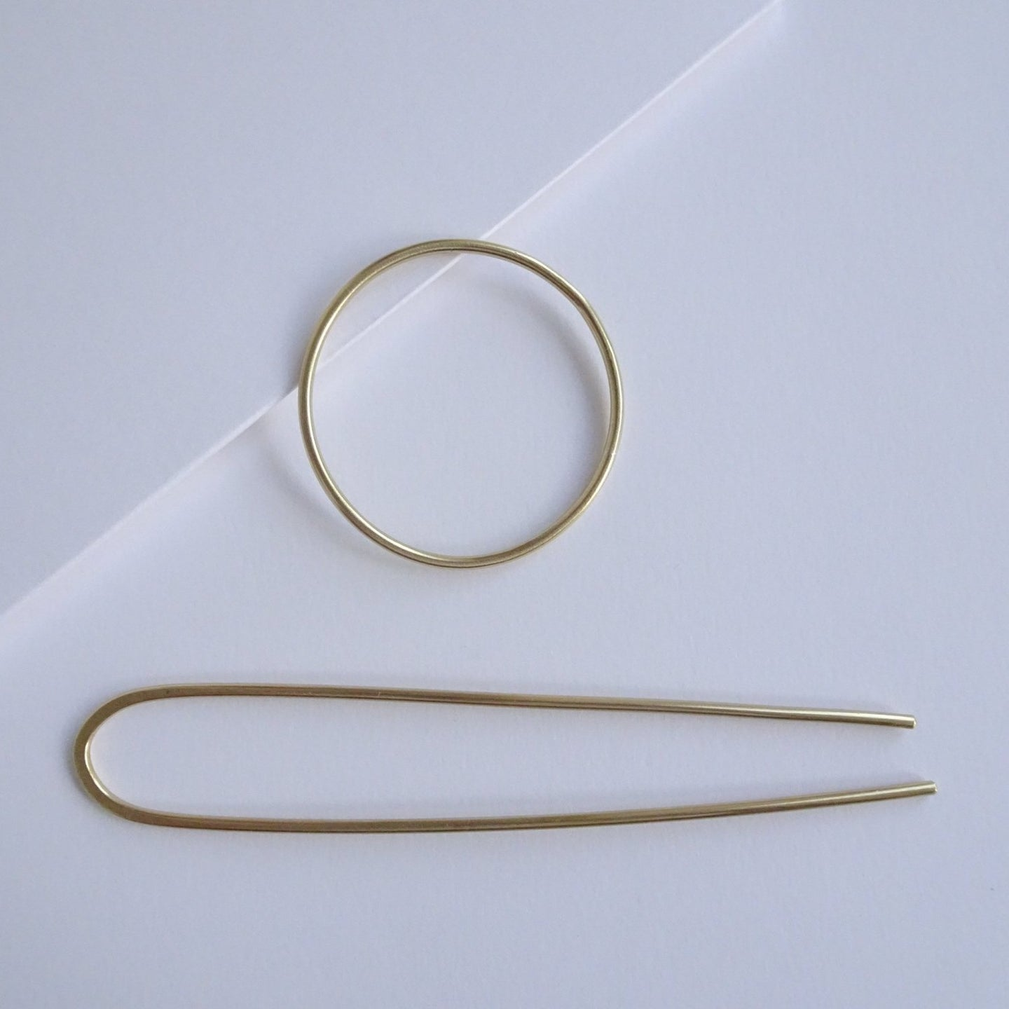 Brass Minimal Hair Pin Set - THE HOME OF SUSTAINABLE THINGS