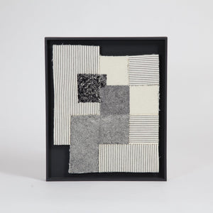 Linear Abstract II / Hand Embroidery | Wool & Bonded Cotton - THE HOME OF SUSTAINABLE THINGS