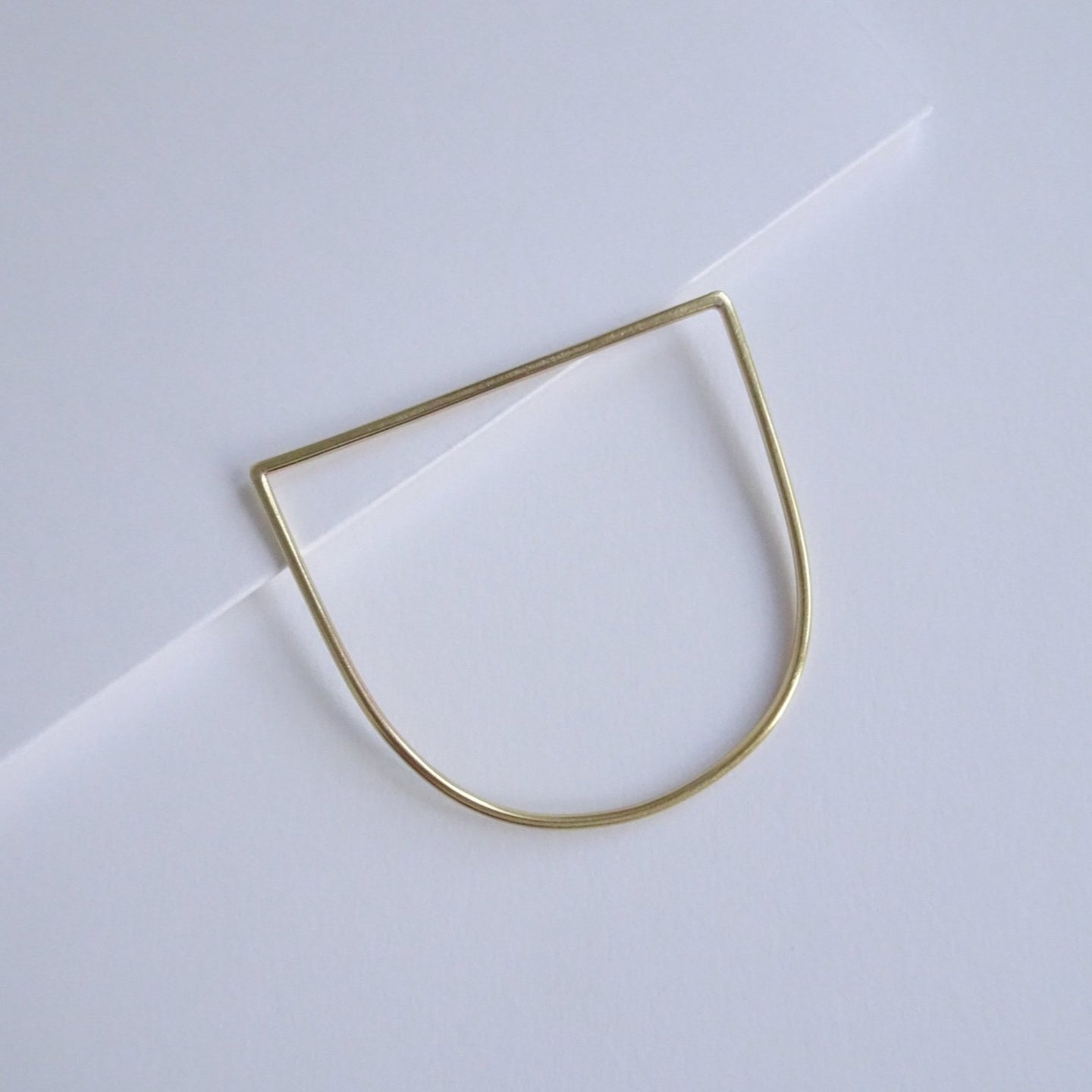 Minimal D Bangle | Brass Slim - THE HOME OF SUSTAINABLE THINGS