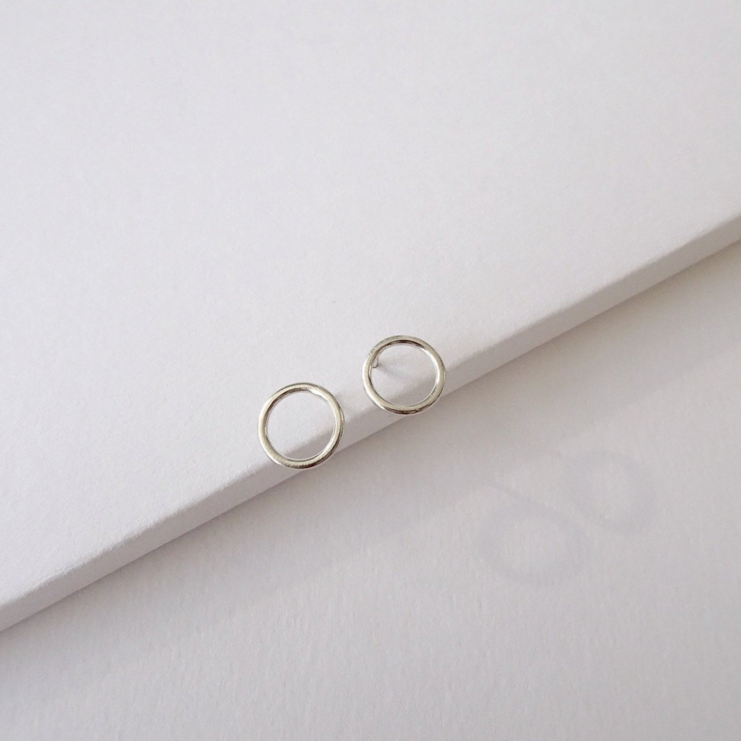 Minimal Flat Round Studs | small - THE HOME OF SUSTAINABLE THINGS