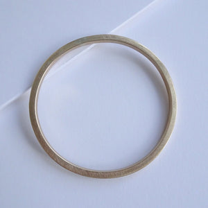 Minimal Round Bangle | Brass Chunky - THE HOME OF SUSTAINABLE THINGS