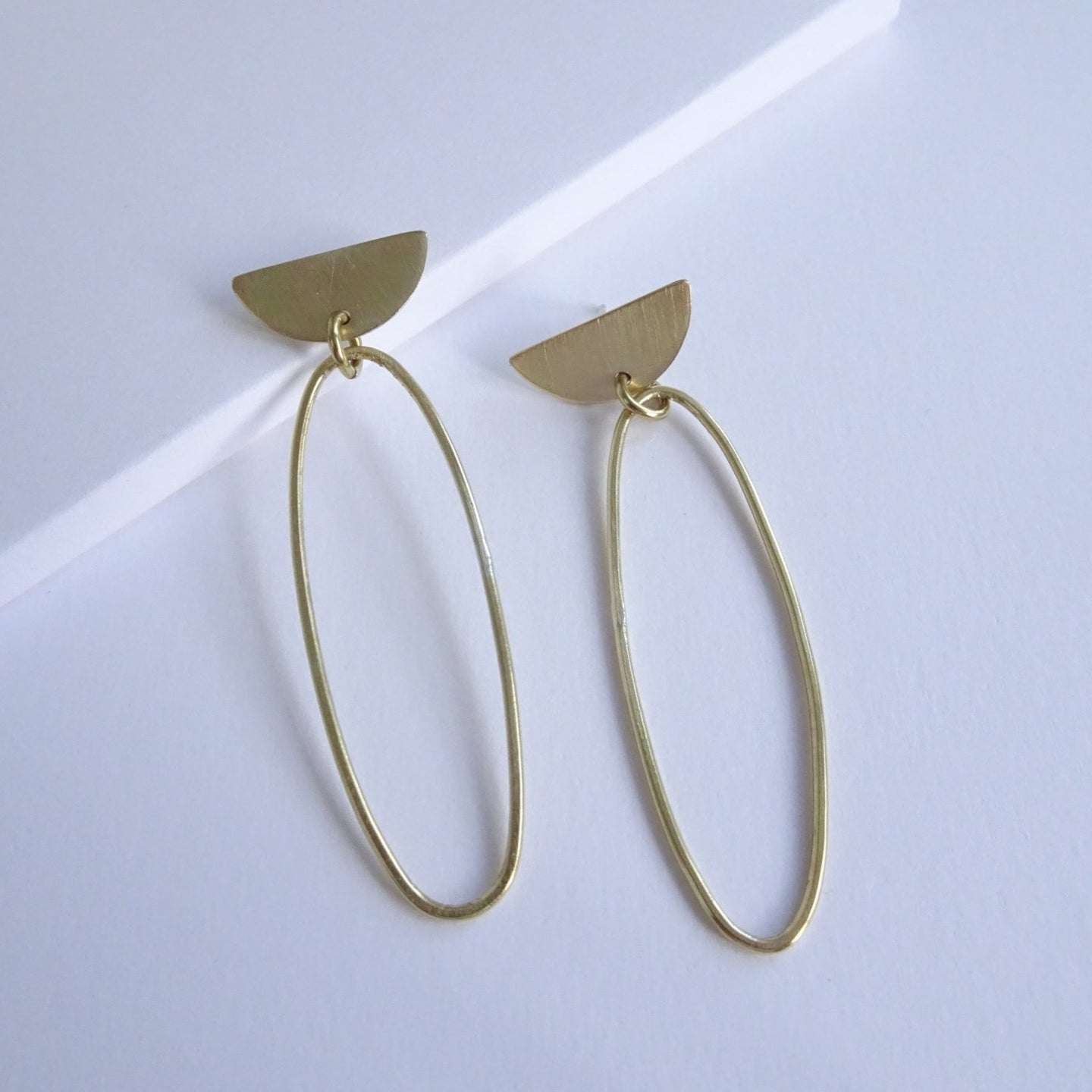 Oval D Top Statement Earrings - THE HOME OF SUSTAINABLE THINGS