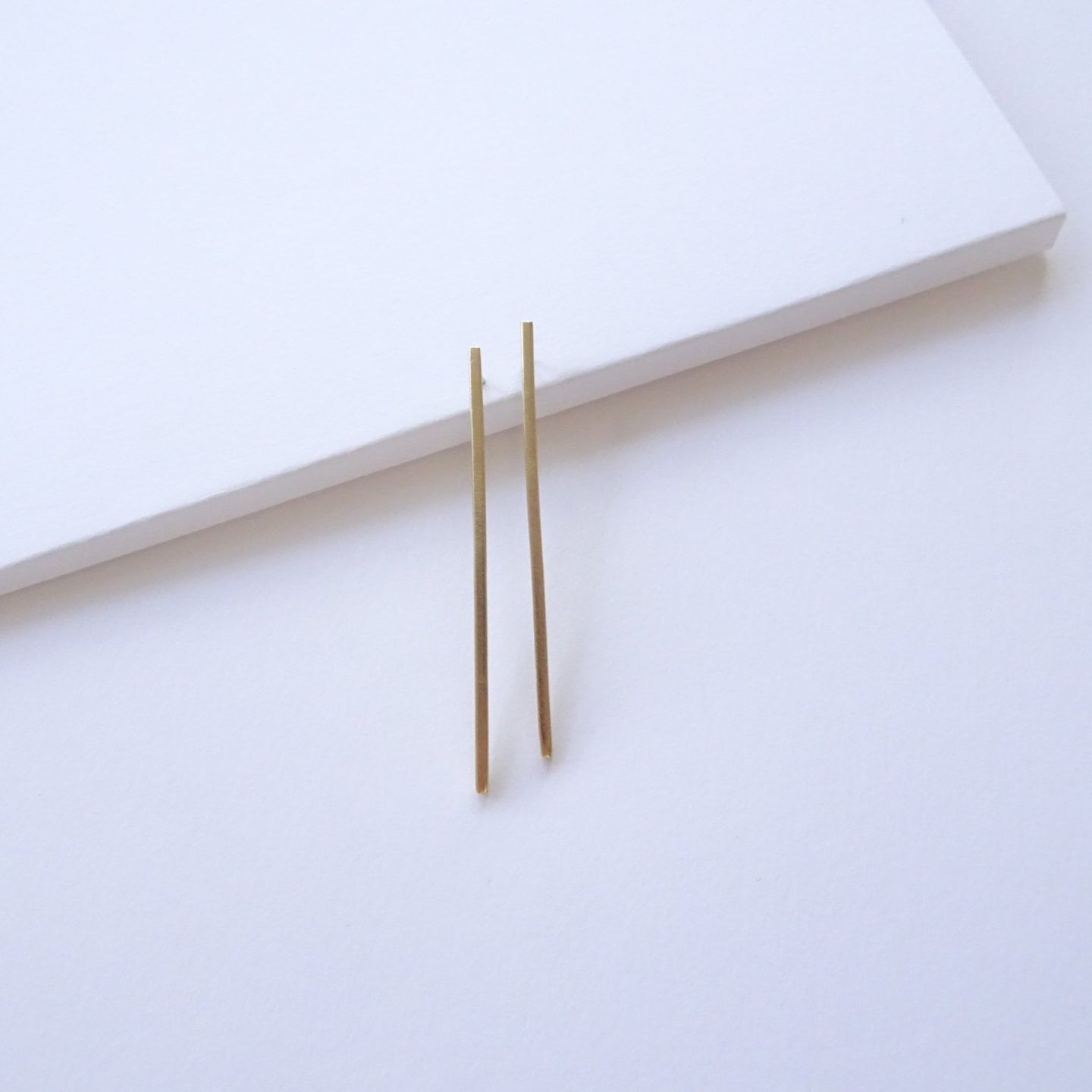 Slim Line Studs | Brass - THE HOME OF SUSTAINABLE THINGS