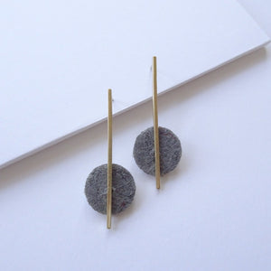 Statement Hemp Drop Earrings | Brass - THE HOME OF SUSTAINABLE THINGS