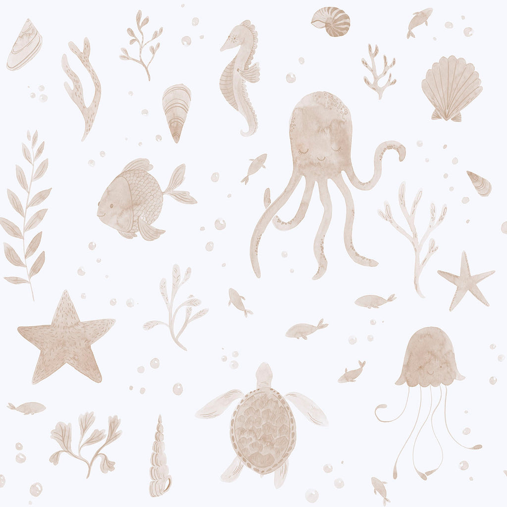 Corals and Friends Wallpaper- Sand