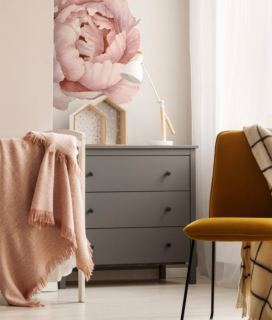 XL Solo Peony Wall Decal