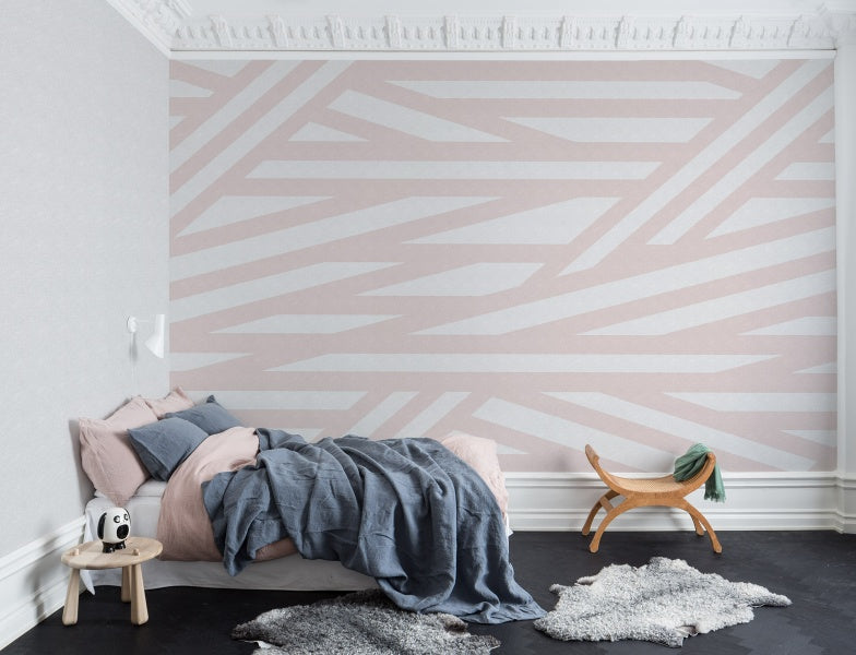 Sailor's Sea Wallpaper- Blush Pink
