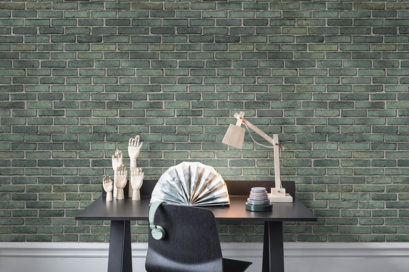Emerald Tiles Wallpaper