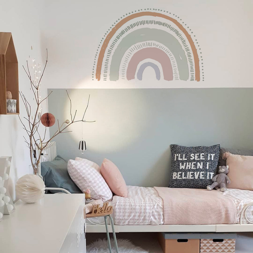 Boho Large Rainbow Wall Decal