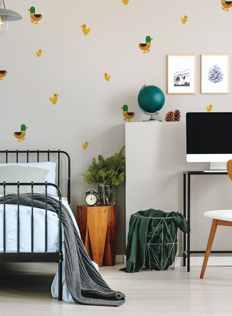 Duck and Ducklings Wall Decals