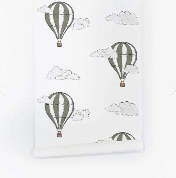 Khaki Hot Air Balloon Wallpaper
