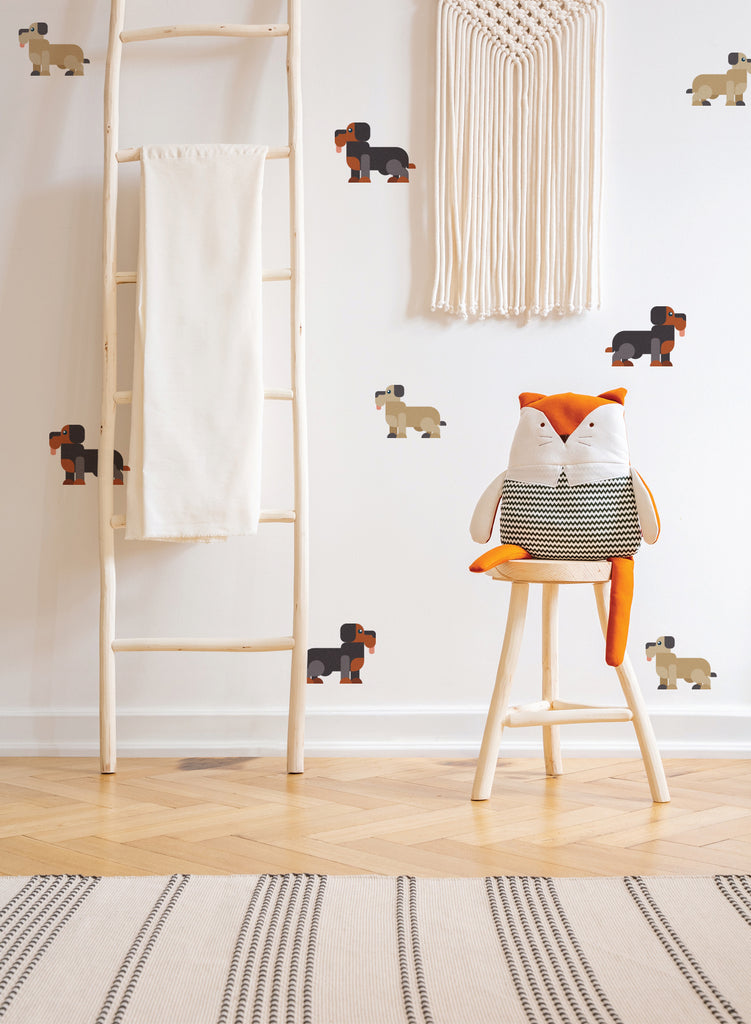 Doggies and Pups Wall Decals