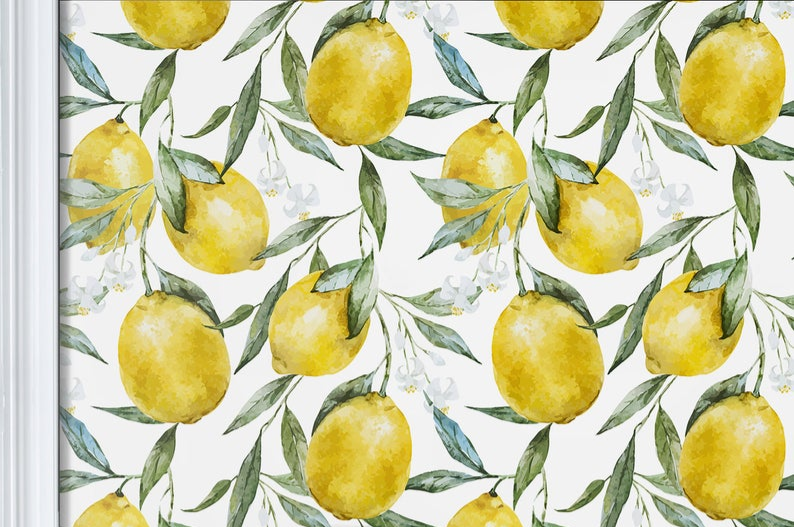 Vintage Lemons Wallpaper