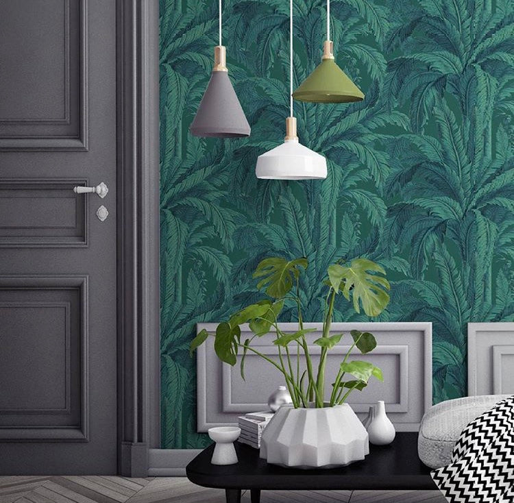 Parisian Botanical Green wallpaper