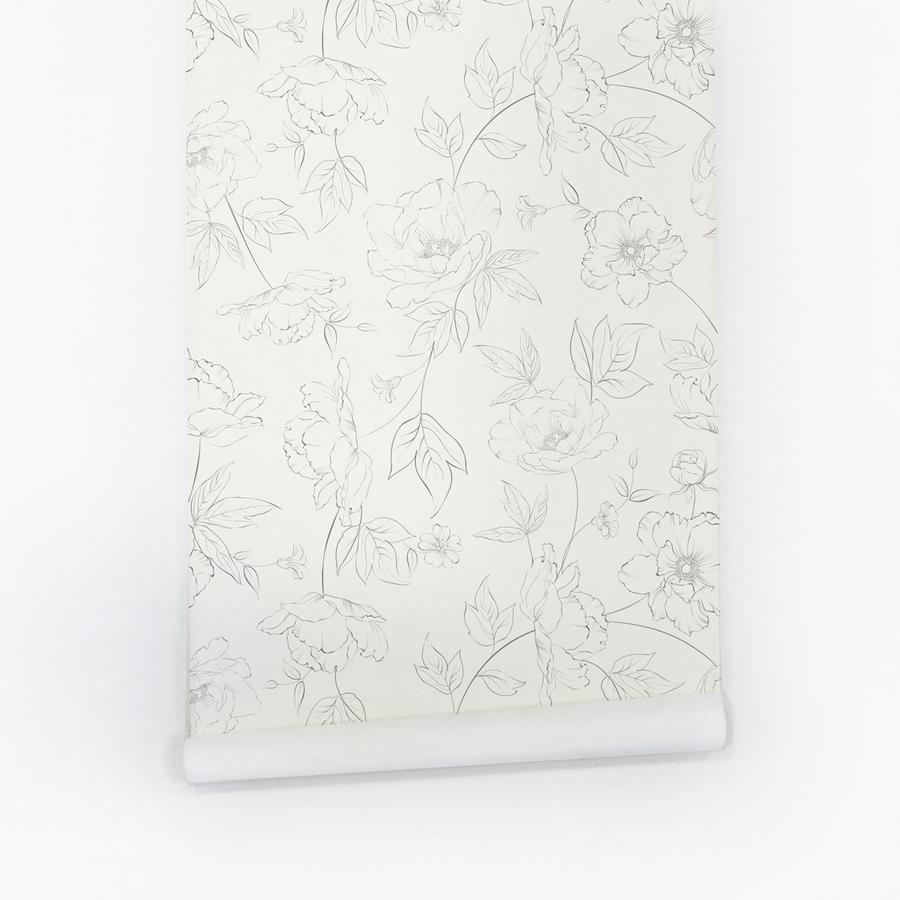 Renae Delicate Flowers Wallpaper