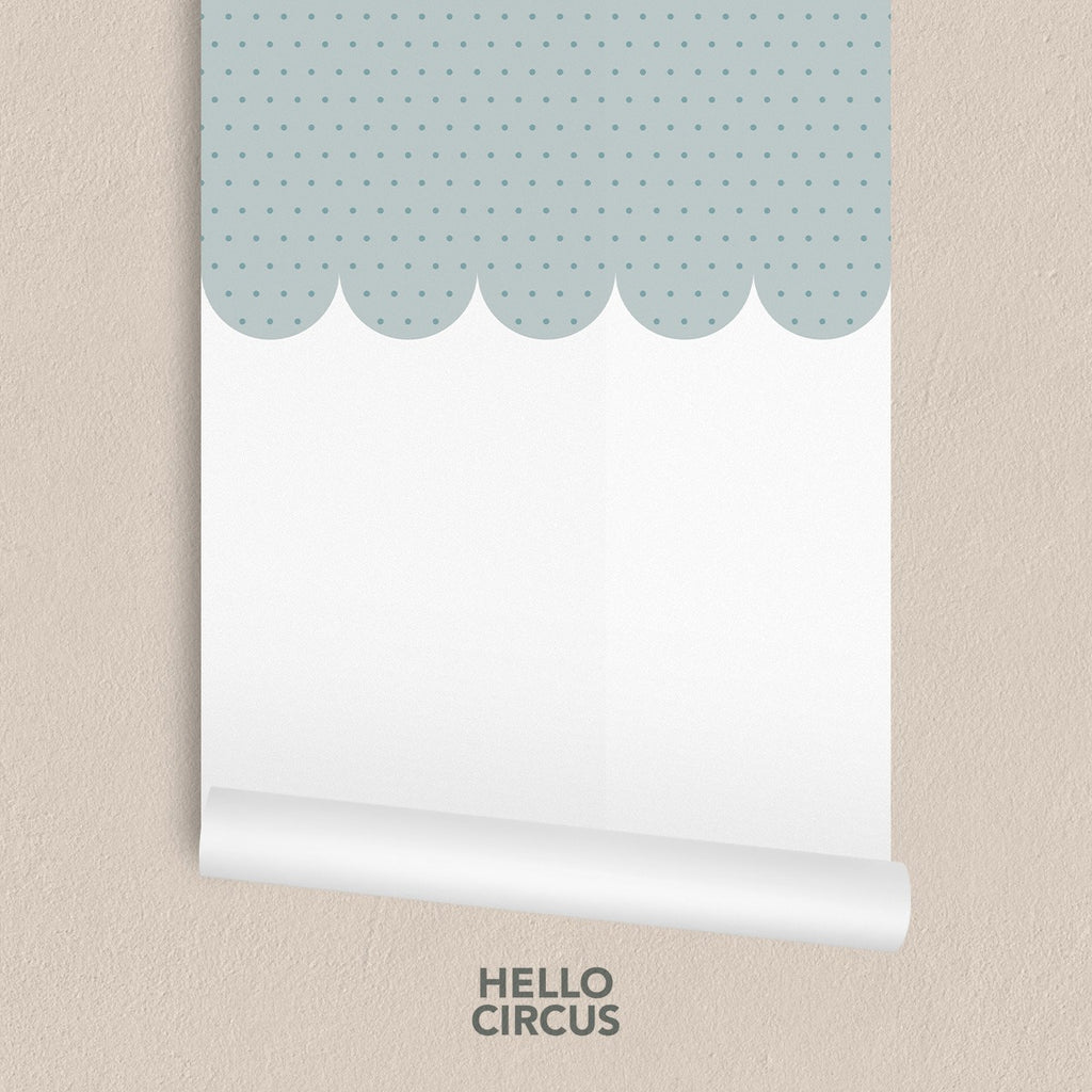 Scallop Trimmings Children Wallpaper (Baby Blue)