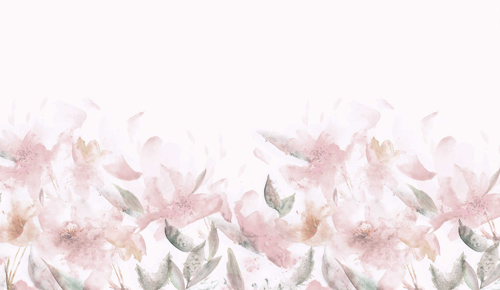 Watercolour Floral Pink Wallpaper