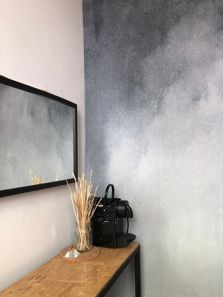 Dark Grey Ombre Wallpaper