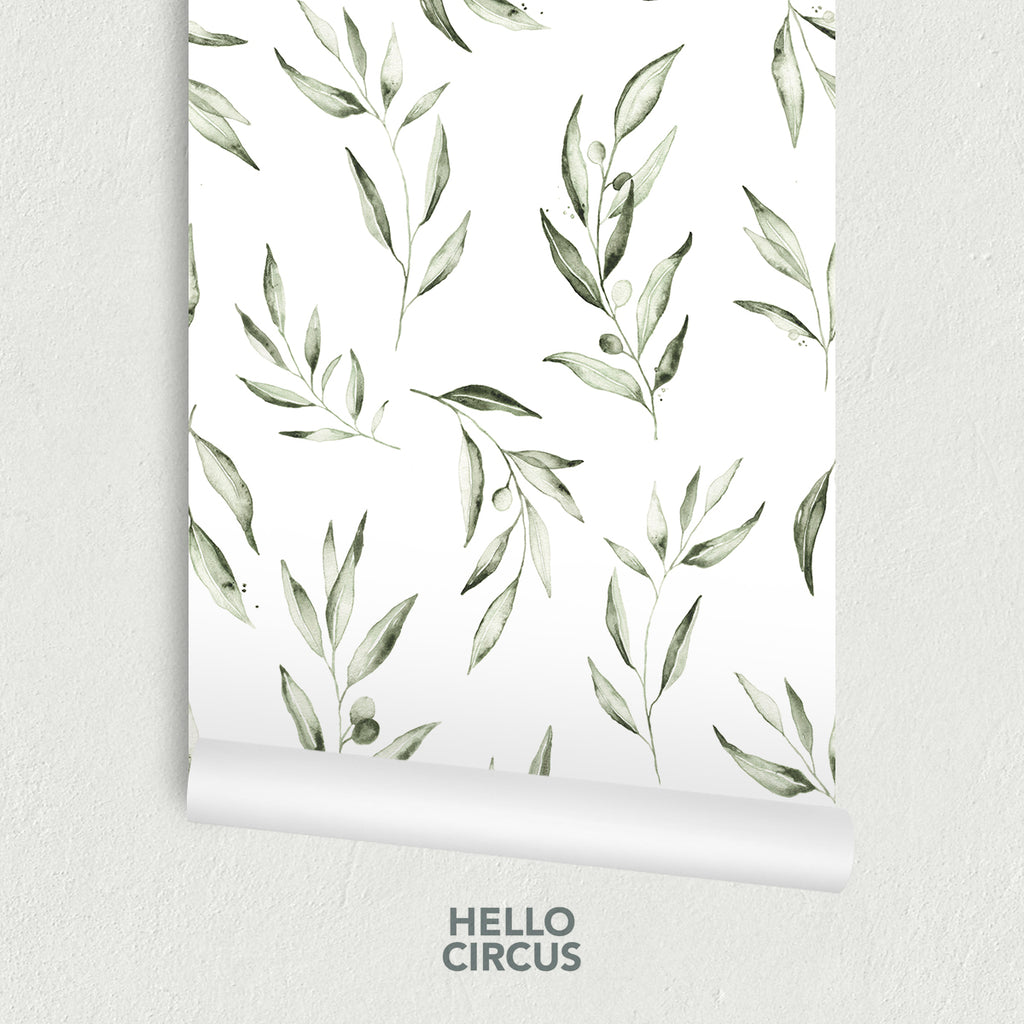 Watercolour Foliage by Olivia Wallpaper
