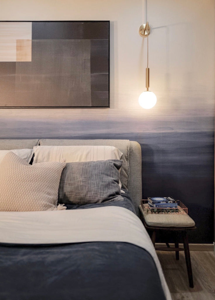 Grey Blue Ombre Wallpaper for bedroom