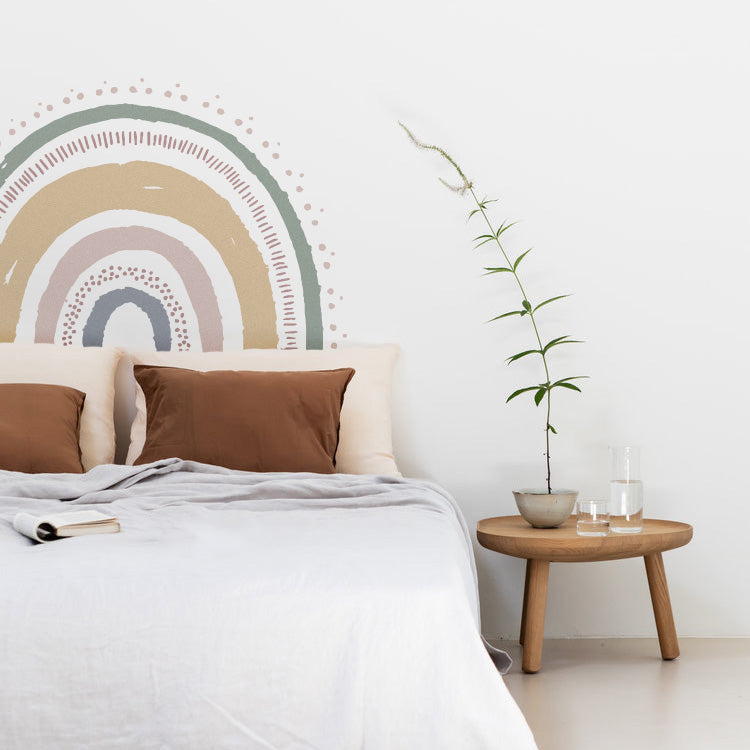 Boho XL rainbow wall decal