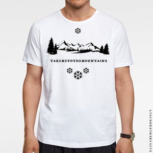 T-Shirt created for Mountains Loves that wants to dress and live with Passion & Style. For men only LARGE size. Material : COTTON 100%  T-Shirt fits exactly like in the picture, comfortable around the belly and not to tight over the shoulders - MAGLIETTA A MANICHE CORTE