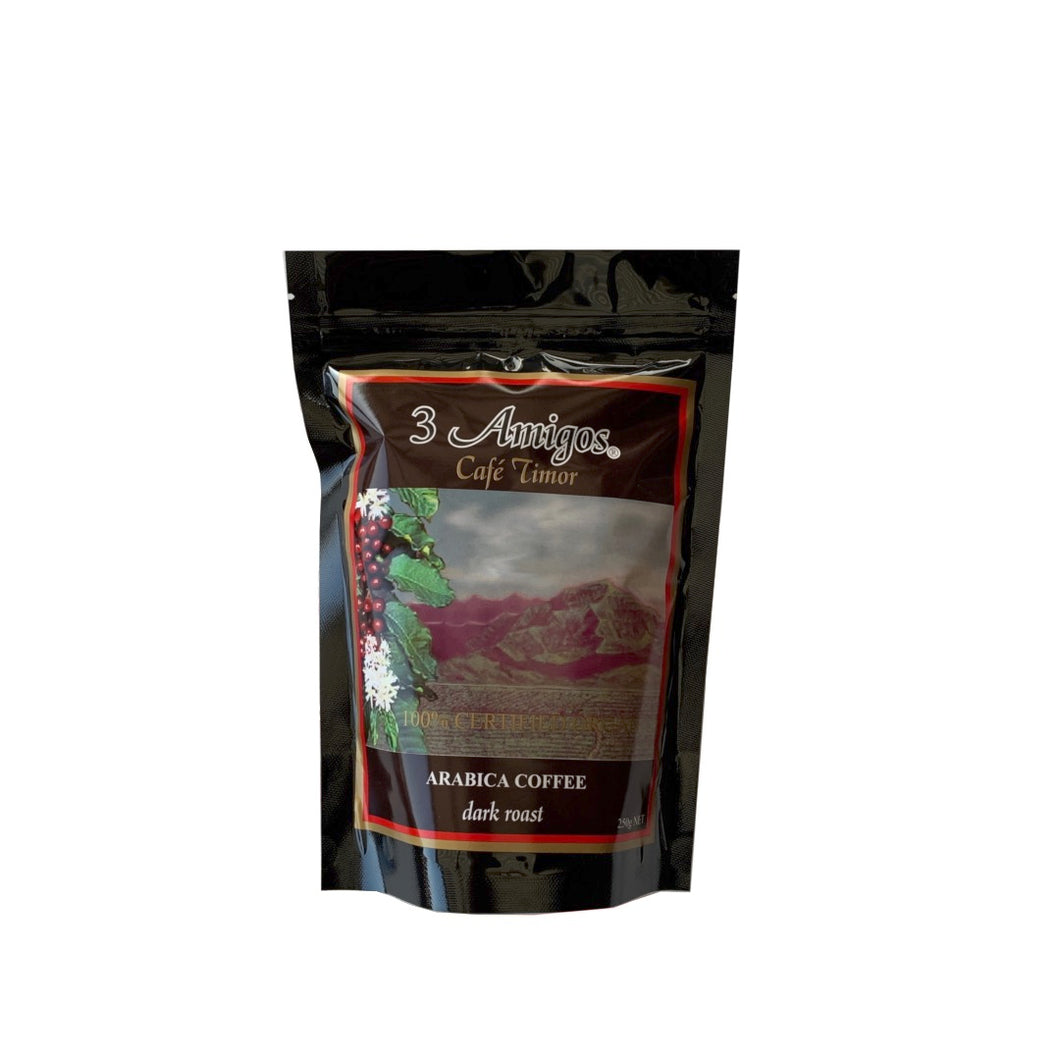 3 Amigos, Organic Coffee Dark Roast 250 grams