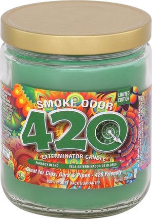Smoke Odor Candle 13oz Jar - 420