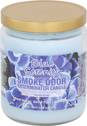 Smoke Odor Candle 13oz Jar - Blue Serenity