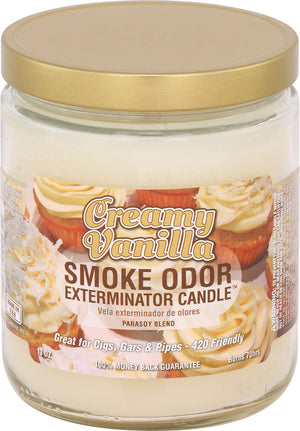 Smoke Odor Candle 13oz Jar - Creamy Vanilla