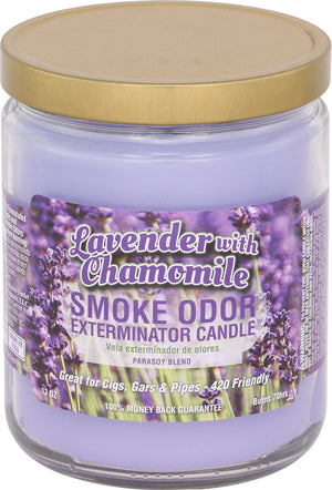 Smoke Odor Candle 13oz Jar - Lavender w Chamomile