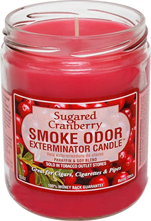 Smoke Odor Candle 13oz Jar - Sugared Cranberry
