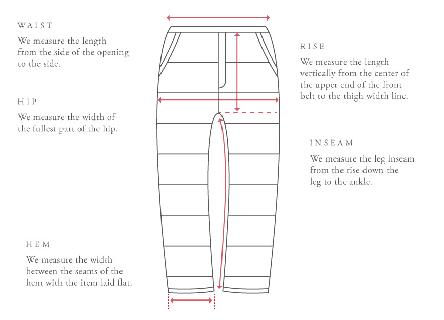 Bottoms Sizing Guide