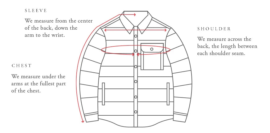 Outerwear Sizing Guide