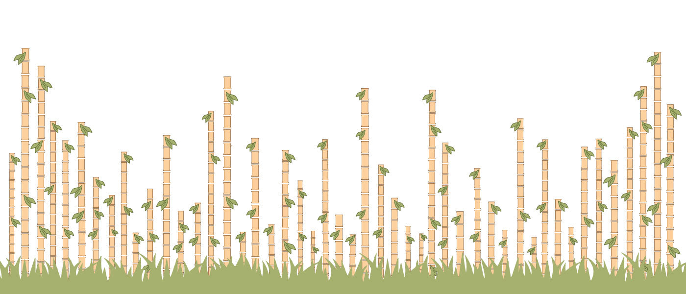 A stylized field of bamboo to represent the growth of Snow Peak USA HQ4 location