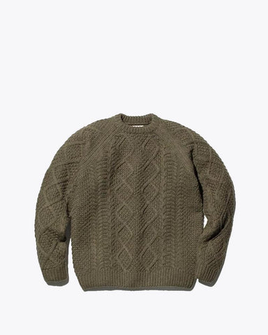 Alpaca Knit Pullover - Snow Peak