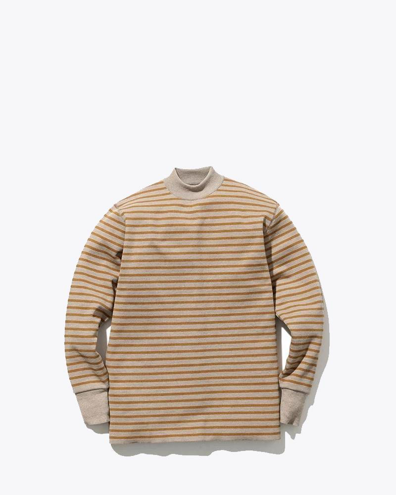Wool Linen/Pe Turtleneck Long Sleeve - Snow Peak