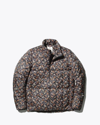 Printed Recycled Middle Down Jacket - Snow Peak