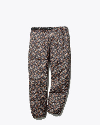 Printed Recycled Middle Down Pants - Snow Peak