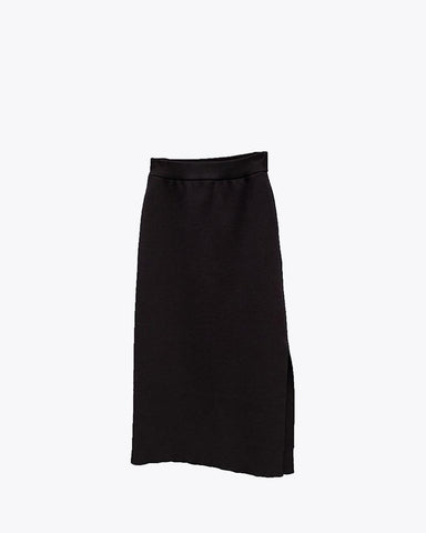 Wool Linen/Pe Skirt - Snow Peak