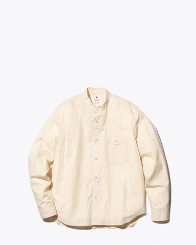 Ultimate Pima Poplyn Stand Collar Shirt - Snow Peak