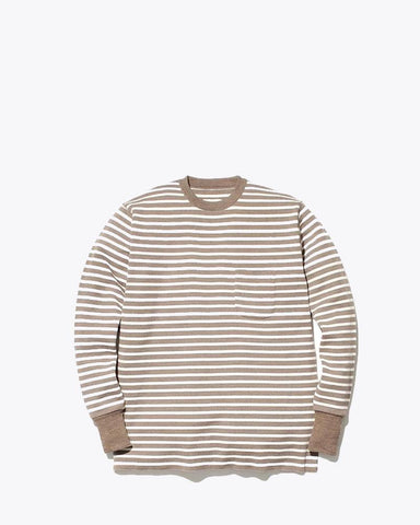 Wool Linen/Pe Crewneck Long Sleeve - Snow Peak