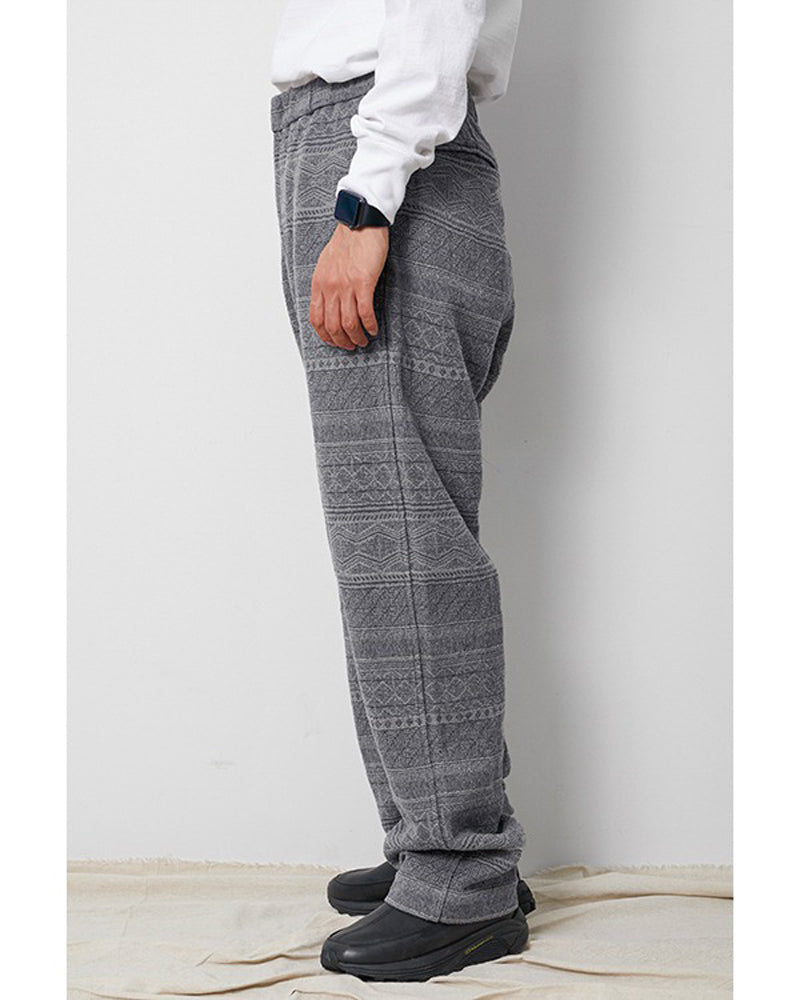 Cotton Silk Jacquard Easy Pants