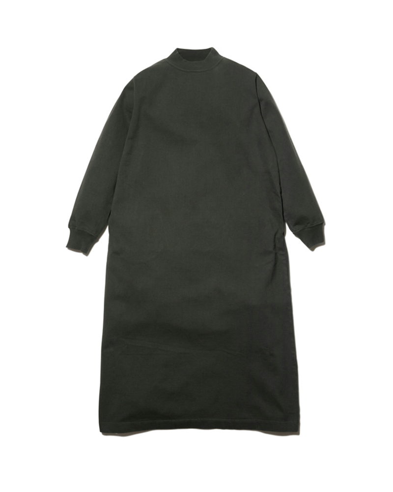Heavy Cotton Garment Dyed Mockneck Dress