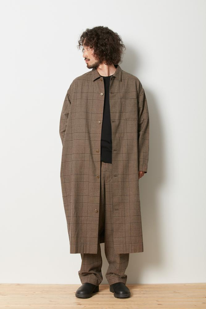 Long Shirt Jacket Glen Check - Snow Peak